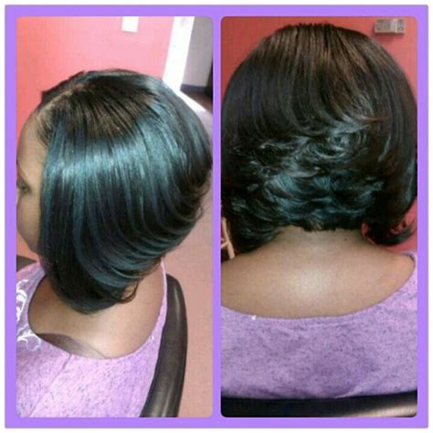 a line feathered bob hairstyles stacked bob haircut hairstyle for black women partial
