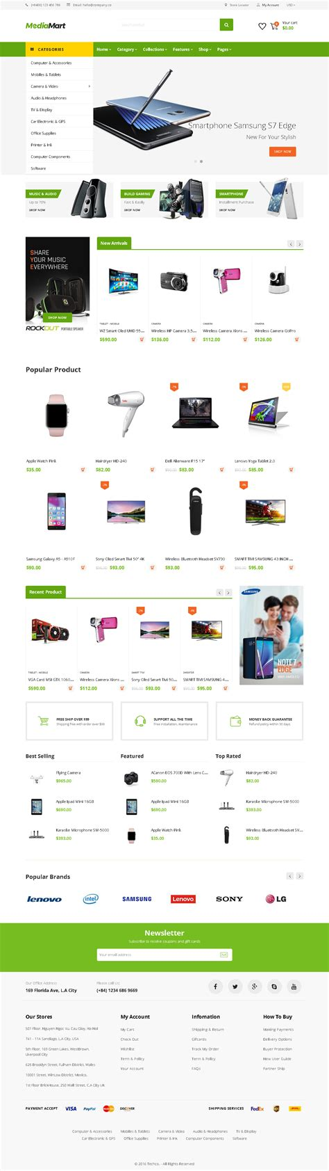 Shopify Themes Multilingual | 5 best shopify themes for electronics products store