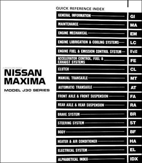 automotive service manuals 1994 nissan maxima engine control 1994 nissan maxima repair shop manual original