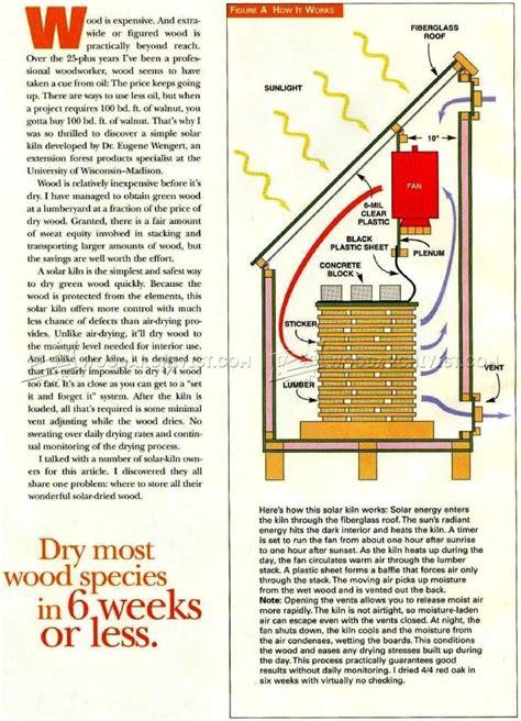 solar kiln plans woodarchivist