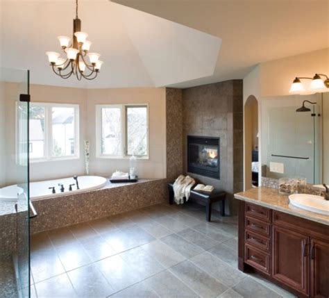 fireplace bathroom bathroom fireplaces a luxurious and welcomed accent feature