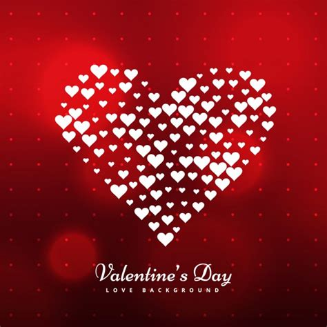 valentine background with two stylish valentine background with heart made with hearts vector