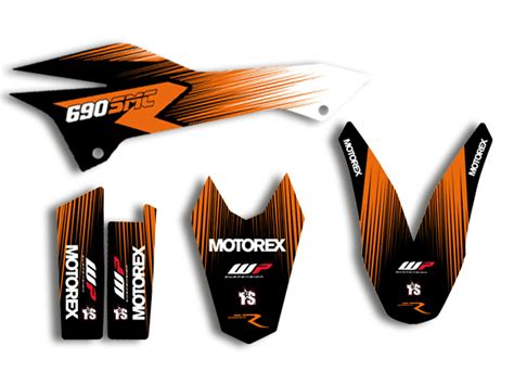 Ktm Aufkleber Kit by Ktm 690 Smc Smc R Enduro 08 17 Factory Dekor Decals
