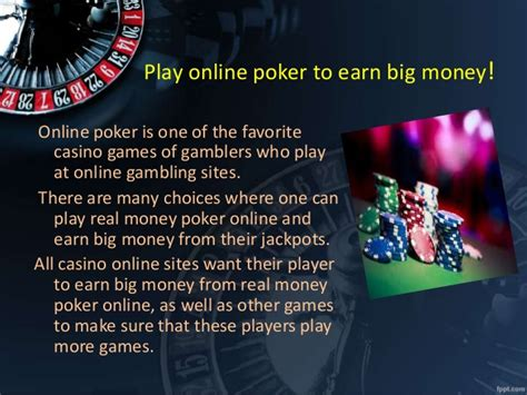 Win Money Playing Poker Online - win big real money and bonus on playing online poker