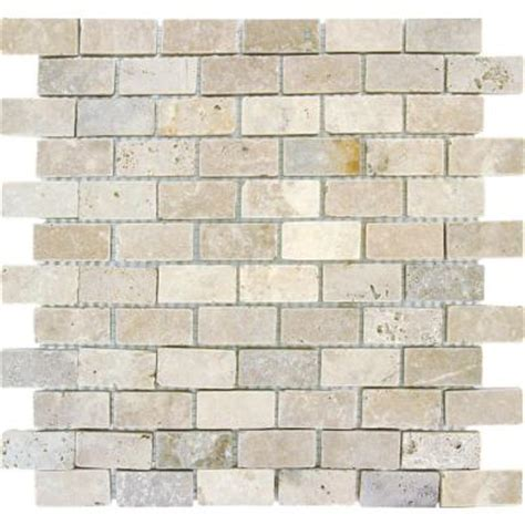 Home Depot Brick Tile classic tumbled brick mosaic 4 8 x 10 quotes