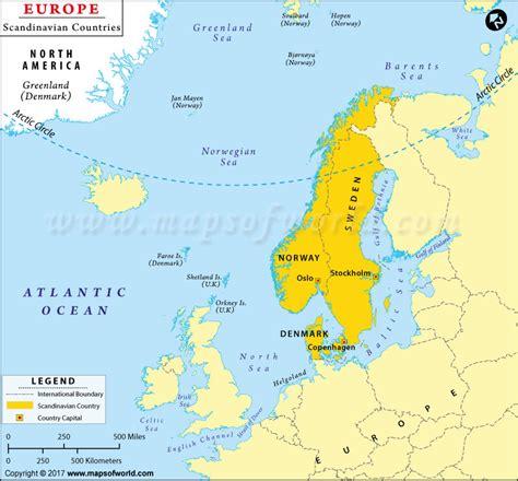 scandinavia map map of scandinavian countries scandinavia map