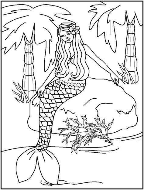 beautiful mermaid coloring pages free printable water