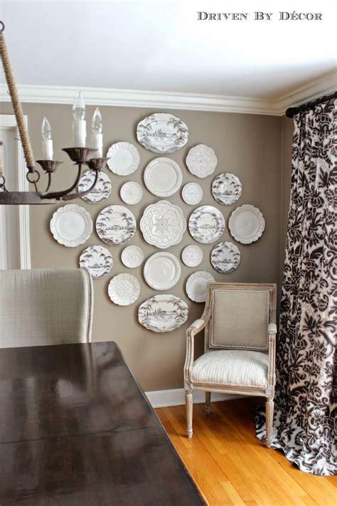decorating kitchen walls  plates hanging wall