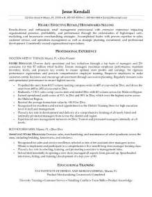 Retail Resume Exle by Retail Store Manager Resume Ilivearticles Info