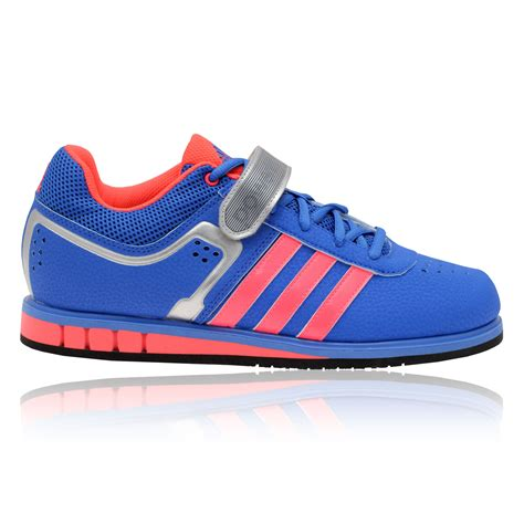 adidas powerlift 2 0 womens pink blue breathable weightlifting shoes ebay