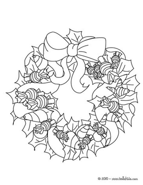 holly wreath coloring page holly and candy wreath coloring pages hellokids com