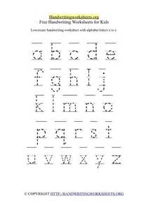 make a printable alphabet letter tracing worksheets 26