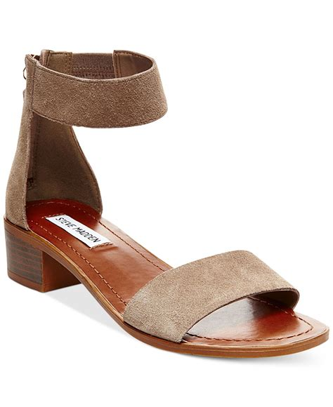 steve madden s darcie sandals in multicolor taupe suede lyst
