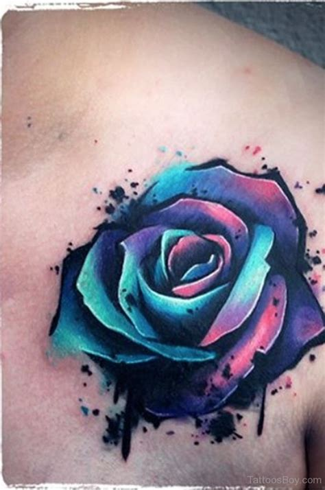 blue flower tattoo designs flower tattoos designs pictures page 12