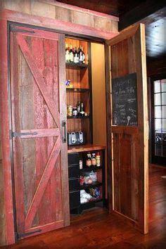 barn wood bar  rusty tin  projects pinterest