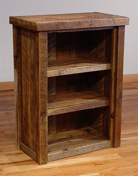reclaimed barn wood rustic heritage bookcase small