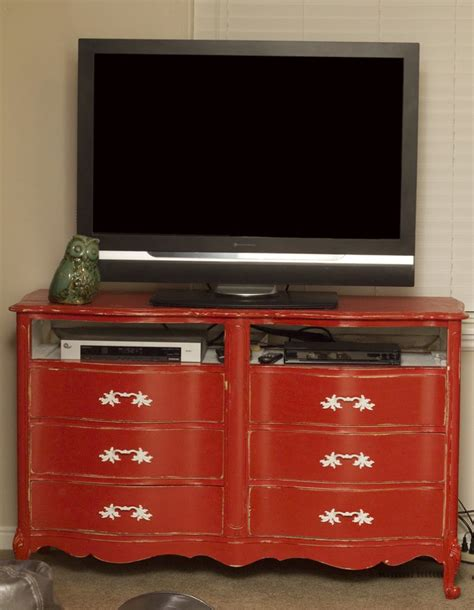 Dresser Entertainment Center by Dresser Turned To Entertainment Center Hip Simple