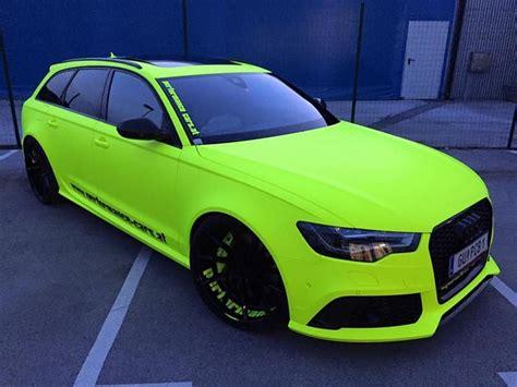 Auto Folieren Kosten A4 by Fluorescent Neon Folierung Am Audi Rs6 C7 Avant By Bb