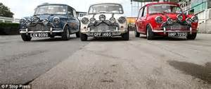 Mini And Me Michael Cooper Restored Italian Minis On Display For The