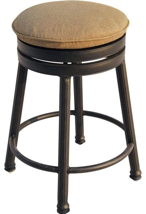 outdoor stools counter height pollarize darlee round backless counter height swivel bar stool