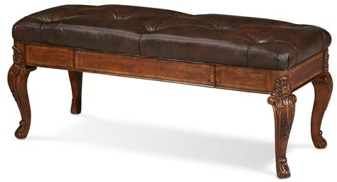 leather bench sofa old world storage leather bench