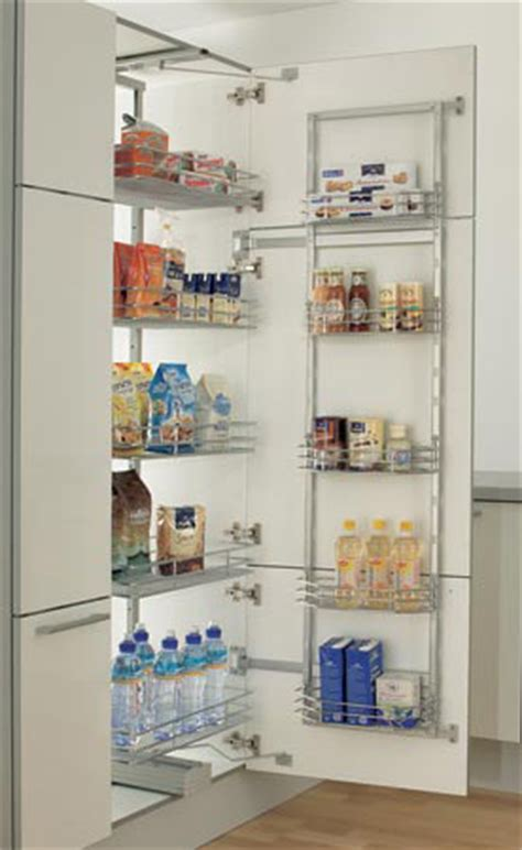 Kitchen Appliance Cabinet Storage - video to enhance that dream kitchen shows pull out swing larder wirework unit