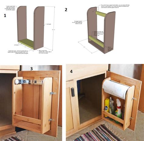 Kitchen Cabinet Door Organizer Amazing Creativity How To Make A Kitchen Cabinet Door Organizer With Paper Towel Holder For