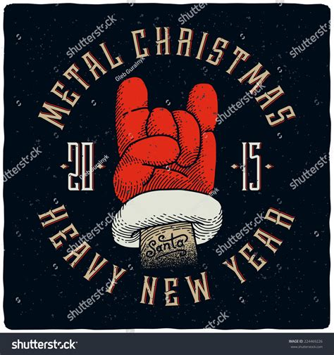 best happy new year song rock metal heavy new year tshirt stock vector 224469226