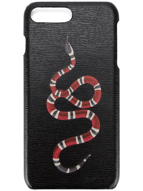 gucci gg kingsnake iphone   case men leather  size black secret parisien