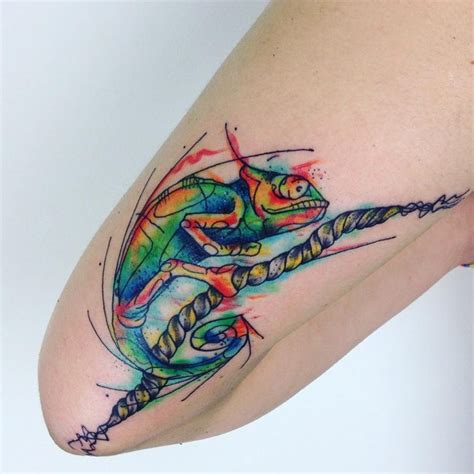 chameleon tattoos 60 colorful chameleon ideas designs that will