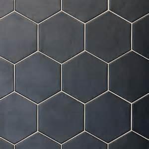 hexagon studio black 17 5 cm x 20 cm baked tiles