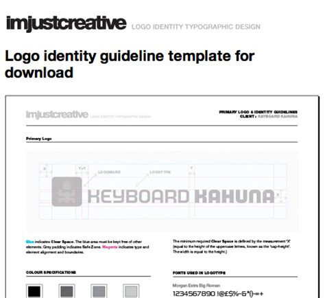 logo identity guideline template designing style guidelines for brands and websites