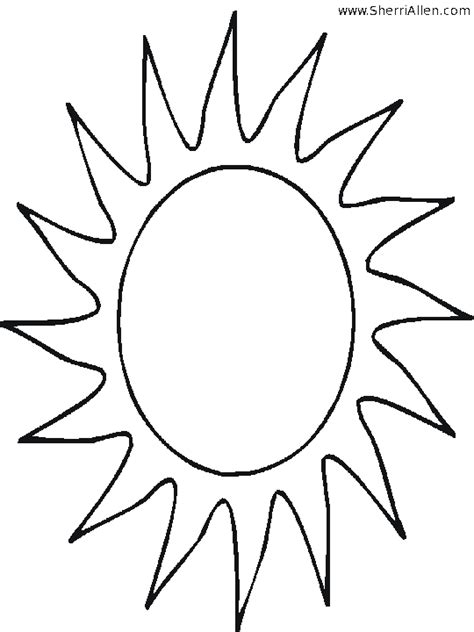 free note sun coloring pages