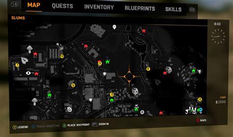 lights locations slums locations dying light quarantine zone map slums