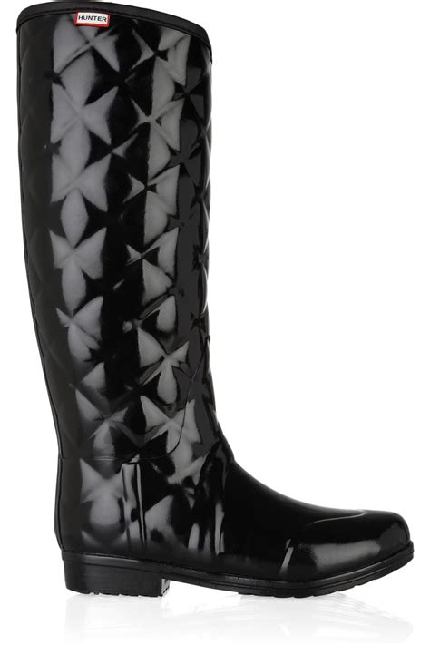 Quilted Wellington Boots by Regent Savoy Quilted Wellington Boots In Black Lyst
