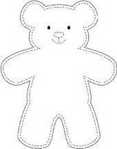 simple pattern for a teddy bear teddy bear template baby shower ideas pinterest