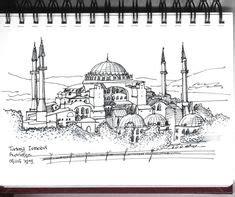 hagia sophia istanbul turkey coloring page coloring 2 ayasofya 02 grafikistan pinterest sketches
