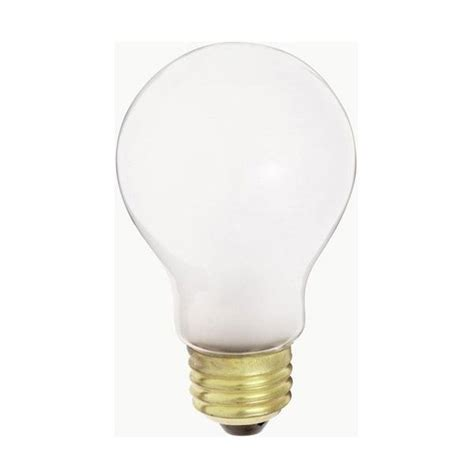 130v 40w light bulb satco s3951 40w 130v a19 frosted e26 base incandescent 2
