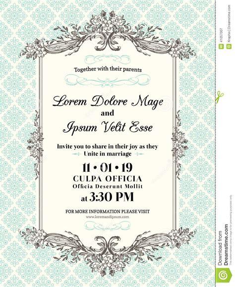 wedding invitation frames free vintage wedding invitation border and frame stock vector