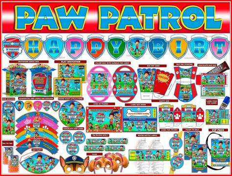printable paw patrol party decorations video kit printable paw patrol party package youtube