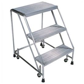rolling step stool singapore ladders rolling aluminum ladders serrated 3 step 18 quot w