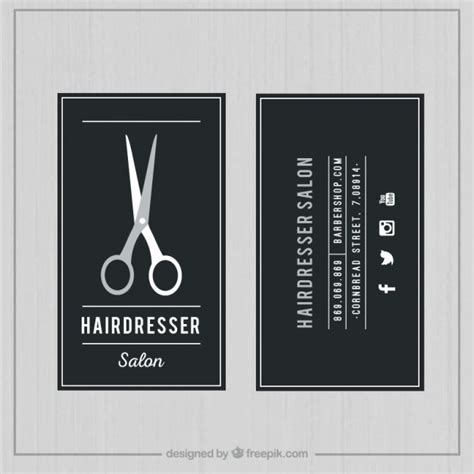 Hair Dresser Salon by Hairdresser Salon Card Vector Free