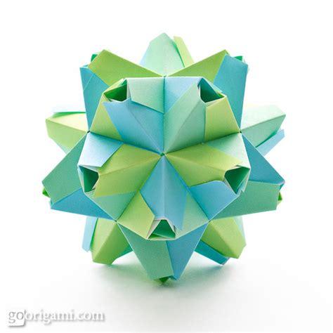 Modular Origami Kusudama - roses kusudama diagram