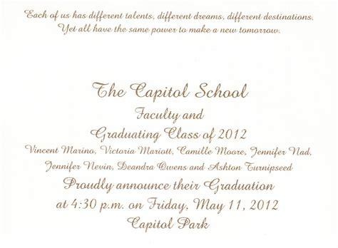 graduation ceremony invitation template bittersweet quotes about graduation quotesgram