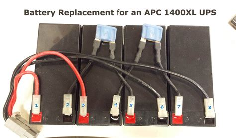 how to replace batteries on an apc 1400xl rack mount ups