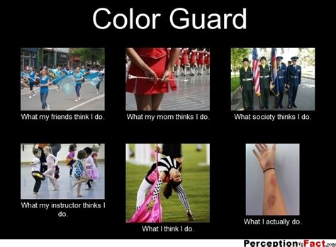 what is a color guard color guard what think i do what i really do