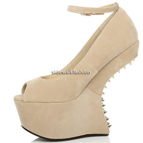 heel less high heel shoes womens high heel less wedge style