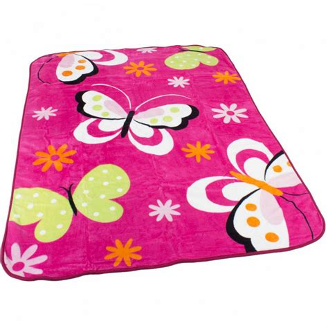 Decke Kinder decke kinderdecken schmetterlinge pink fuchsia butterfly