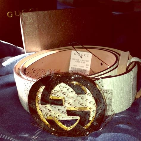 Gucci Pasir Goldwhite gucci belt white and gold crazylarrys co uk