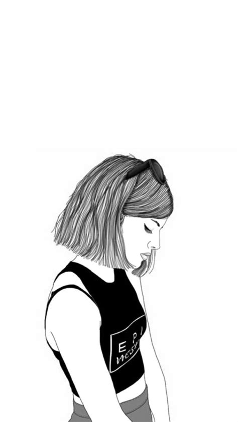 wallpaper girl drawing black and white drawings tumblr 8 best tumblr wallpaper